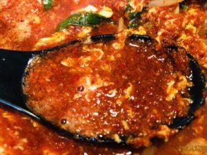 菜の鳥(串ひろ)古町店 辛麺 スープアップ