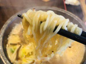 火山 サバ味噌らーめん 麺リフト