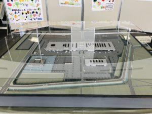 新潟中央卸売市場 風除室にある模型