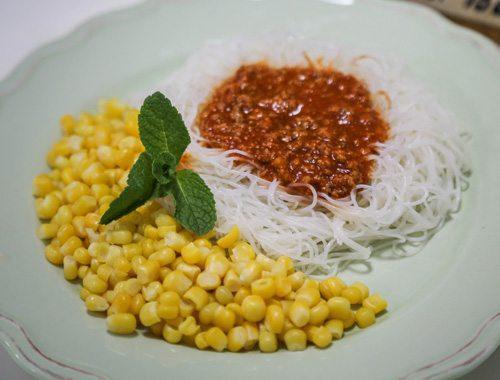 אטריות אורז, בולונז ותירס ללא גלוטן