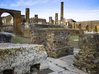Preserved ruins, Pompeii, Italy