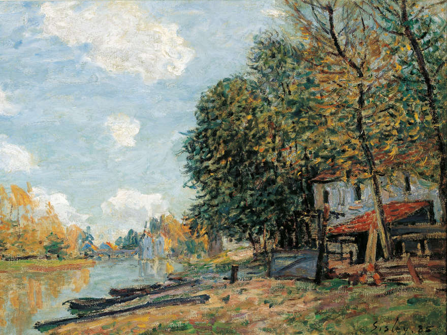Alfred Sisley's Banks of the River Loing, Bruce Museum, Connecticut