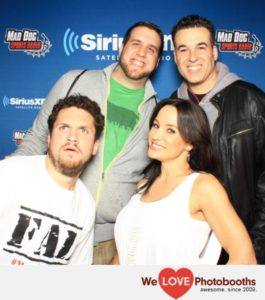 FALCon 2016 photo op. From left, Mike Babchik, Lisa Ann, John Lund and Evan Cohen. Photo by We Love Photobooths