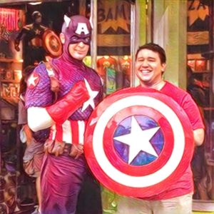 One is a fictitious super hero; the other, a fictitious producer.