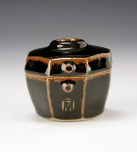 Faceted Jar, Tenmoku Glaze