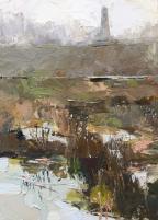Buttes Memorial, Ypres oil 22.5 x 16.5 cm