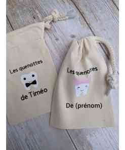 sac à dents de lait personnalisable