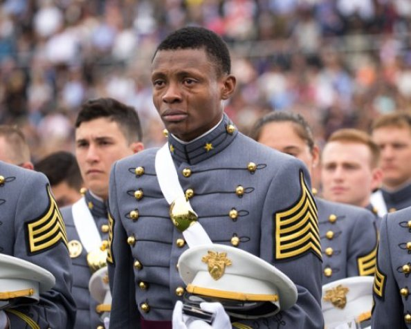 The picture, which was taken by Army Staff Sgt. Vito T. Bryant, showed Idrache with tears streaming down his face while he clutched his army cadet headgear tightly. It was first published on West Point's Facebook page on May 24 and attained viral success almost instantly.