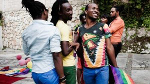 Anti-Homophobia day celebration at the Fondation Serovie in Port-au-Prince, Haiti. Photo by Katie Orlinsky