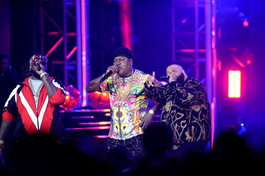 October 6, 2017-Miami, FL 2017 BET Hip Hop Awards show Trick Daddy, T-Pain, DJ Khaled Perform (Photo: Jeff Daly/BET)