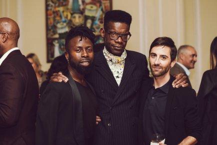 Celebrity Stylist Memsor Kamarake, Victor Gleamaud and Celebrity Designer Eddie Borgo