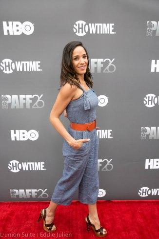 Actress Toni Duclottni attends 'Lalo's House' Red Carpet Screening at Cinemark Baldwin Hills Crenshaw