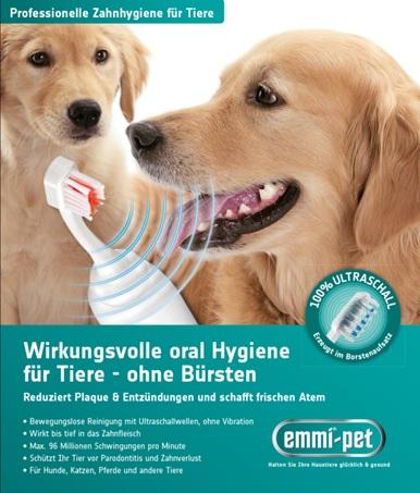 Emmi-pet spazzolino Ultrasuoni per cani