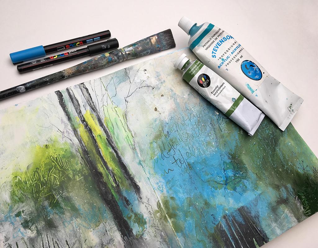 Art Journaling in Acrylics with Nicole Warrington