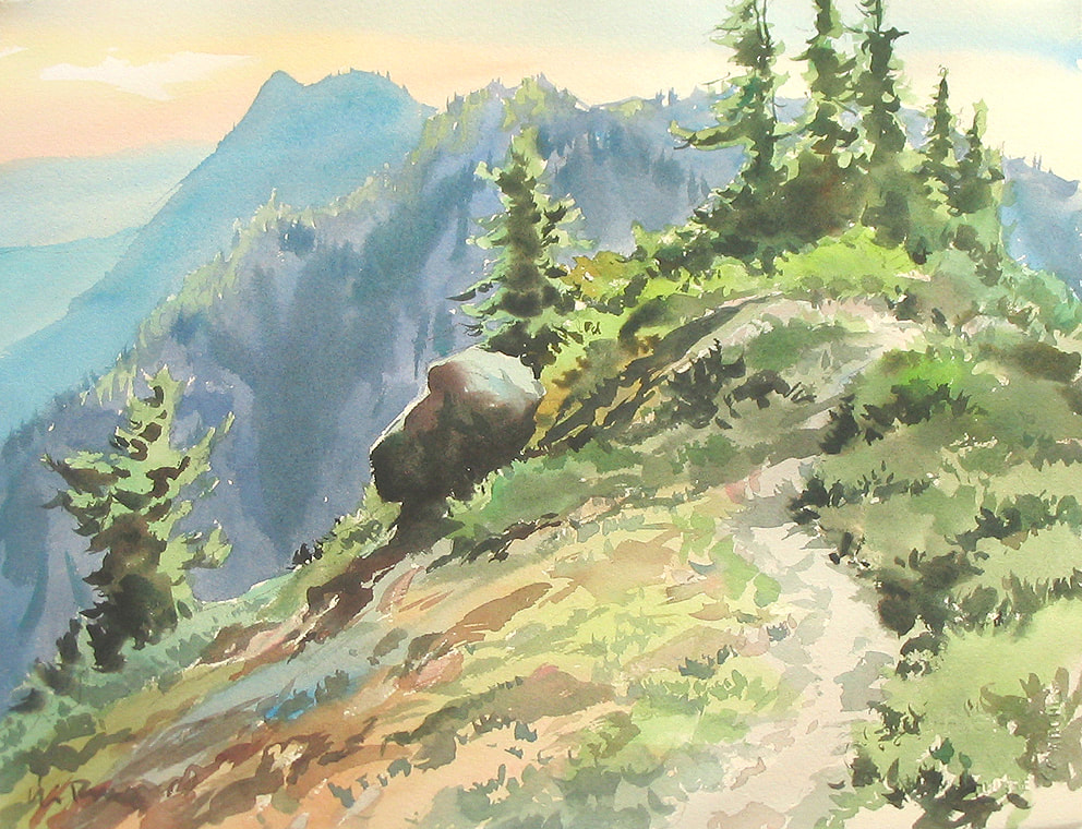 You are currently viewing Watercolour 2 – The Incredible Landscape (of Vancouver Island)