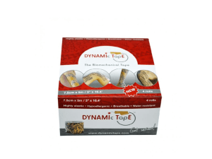 Caixa Dynamic Tape Tattoo Preto 7,5cm X 5m - 4 rolos