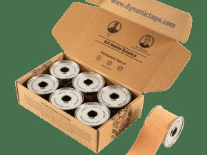 caixa dynamic tape bege 5x5