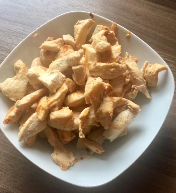 Hühnchen - Haehnchen-Paprika-Geschnetzeltes
