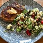 Taboule  mit Rumpsteakstreifen – schnelles Essen