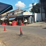 Venta de bebidas en plena calle de Luque