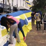 Bandera gigante arrasa en Luque y objetivo es llegar a 30 mil firmas