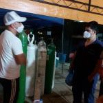 Iván Velázquez cierra su campaña donando oxígenos al Hospital de Luque