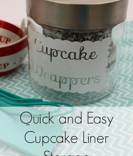 Organized: Storing Cupcake Liners