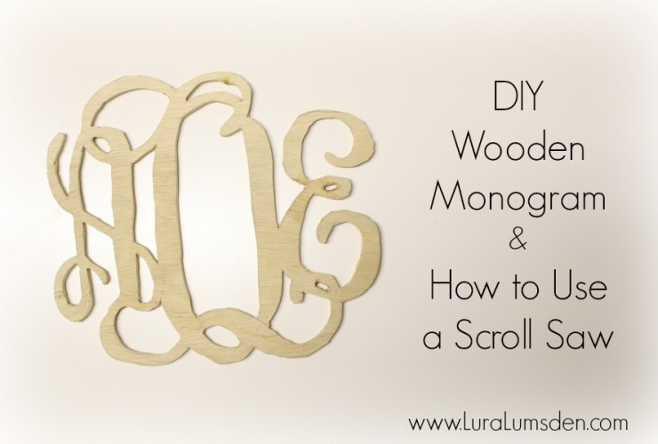 DIY Christmas Gift Wooden Monogram Using  Scroll Saw