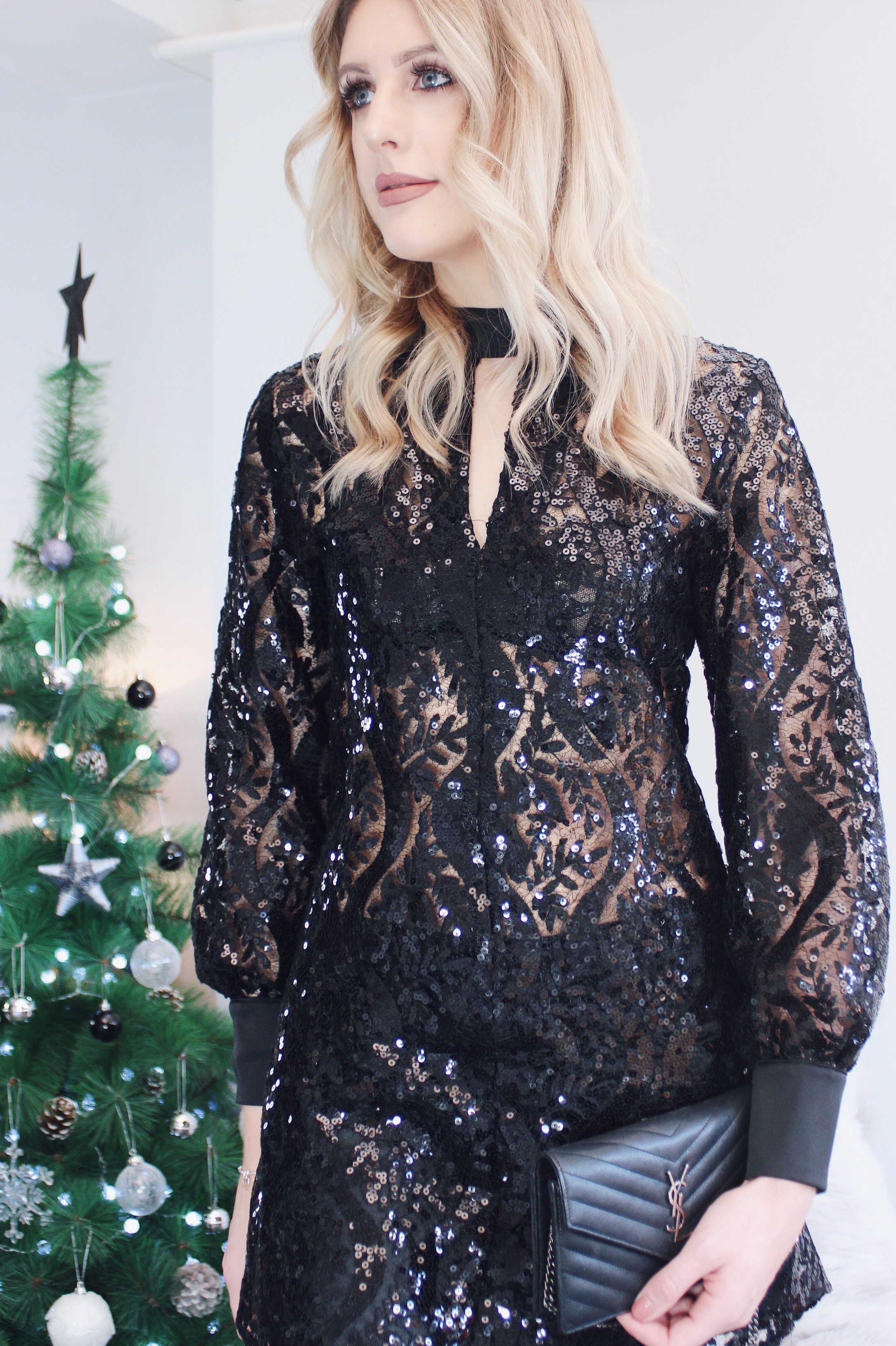 sequin party tunic top from Closet London
