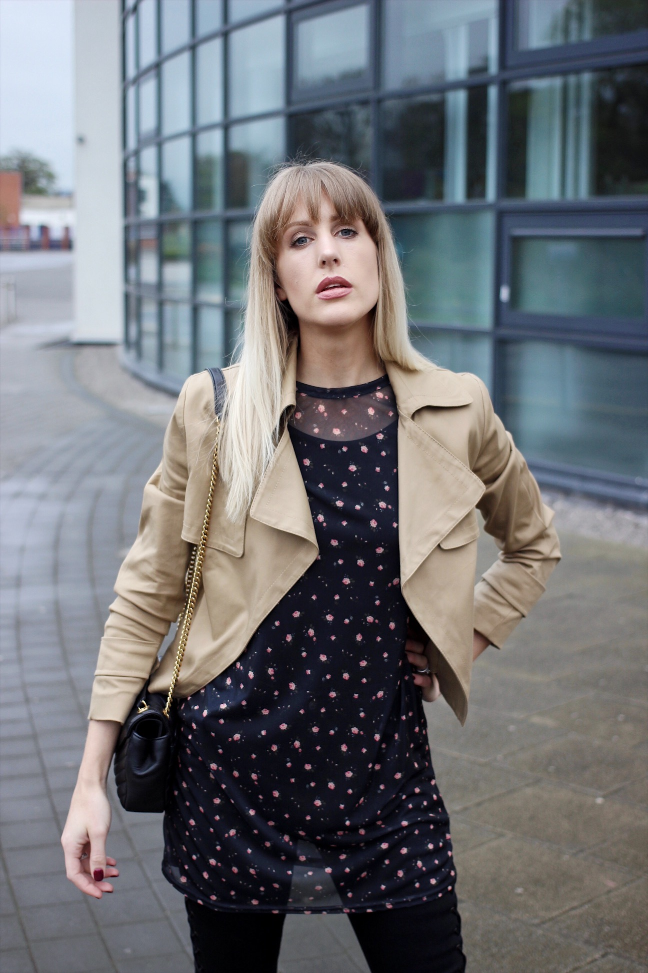 Charlotte Buttrick high street fashion blogger with designer accessories