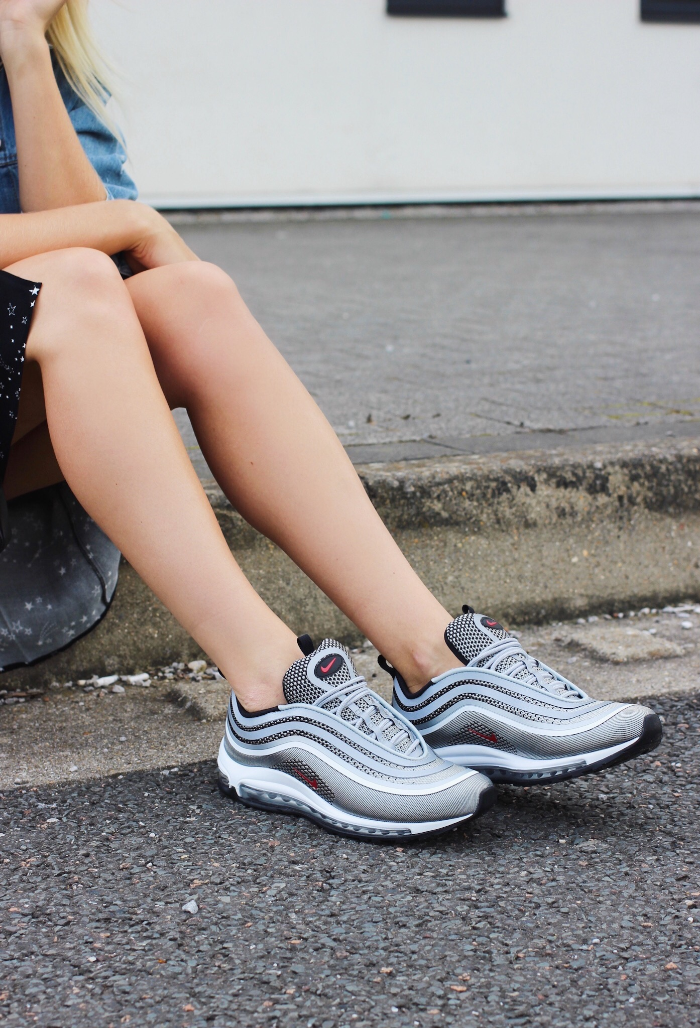 d20635f488 Nike Air Max 97 Womens Street Style Silver Bullet — Styling By Charlotte