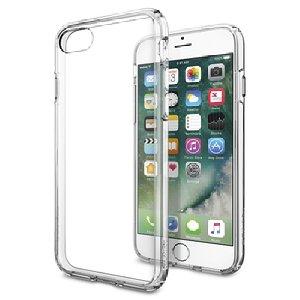 【Spigen】 iPhone7 ケース, [ 米軍MIL規格取得 落下 衝撃 吸収 ] ウルトラ・ハイブリッド アイフォン 7 用 カバー (iPhone7, クリスタル・クリア)