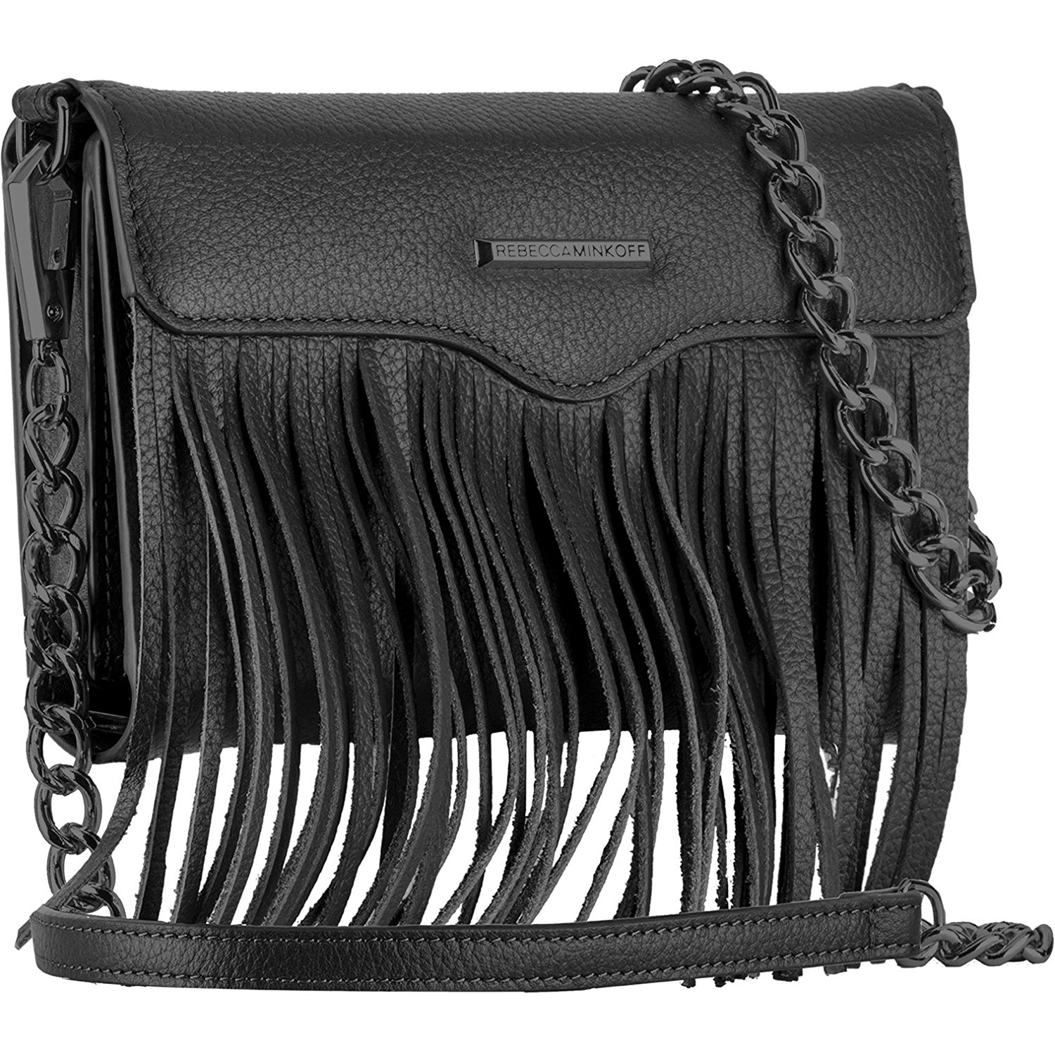 iPhone8/iPhone8 Plus/iPhone7/7 Plus対応 日本正規品 REBECCA MINKOFF × Case-Mate Crossbody with Fringe Black 5インチ スマホ 汎用 レベッカミンコフ ブラック クロスボディ ウィズ フリンジ CM032873