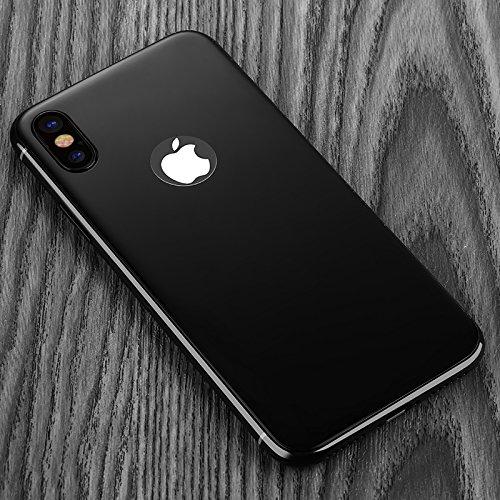 AVIDET iPhoneX 背面フィルム ガラスフィルム 9H硬度の液晶保護 3D 0.3mm 超薄型 日本製ガラス素材採用 耐指紋 撥油性 ラウンドエッジ加工 (iPhone X 背面保護フィルム ブラック)
