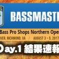 【ビッグNEWS】B.A.S.Sノーザンオープン第2戦初日結果-1位深江真一、3位イヨケン、5位加藤誠司 日本人3選手が上位に!
