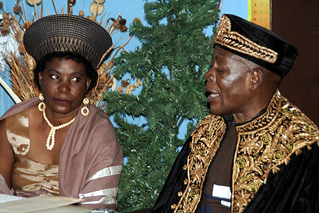 Paramount chief Chitimukulu and his wife