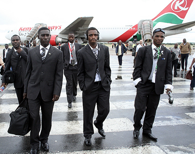 Zesco United Football cub players on arrival from Ivory Coast at Lusaka international airport