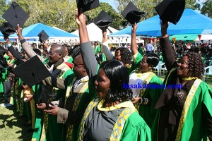 Hurray... University of Zambia graduants after receiving their credentials