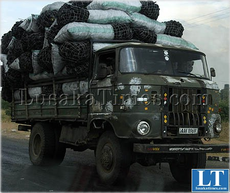 File:An old IFA truck transporting charcoal from Chongwe to Lusaka, Zambia