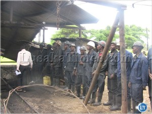 Chinese Collum Coal Mine miners