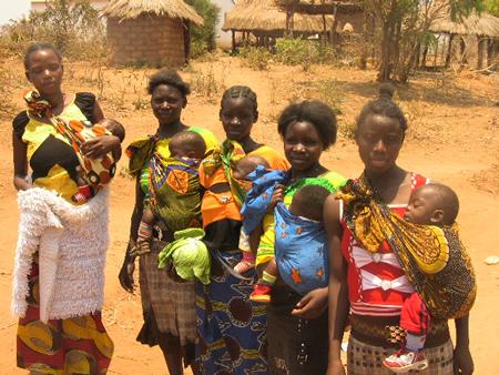 Teen girls in Kalabo