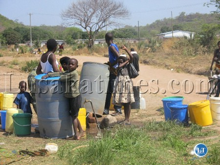 The water problem in Itezh-Tezhi district in Southern Province as people are forced to carry  use drums for water storage