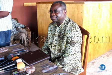 MMD National Chairperson Kabinga Pande