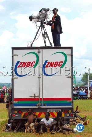 File: A ZNBC outside broadcast van