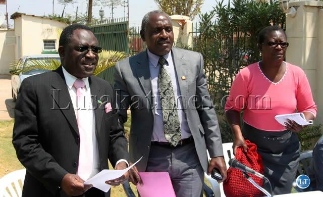 UPND secretary general Winstone Chibwe (c)