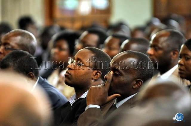 MMD Chisamba Member of Parliament Moses Muteteka (in glasses)