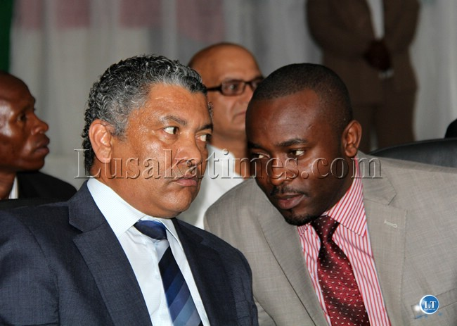 File:Given Lubinda and Former Press secretary Presidential affairs George Chellah
