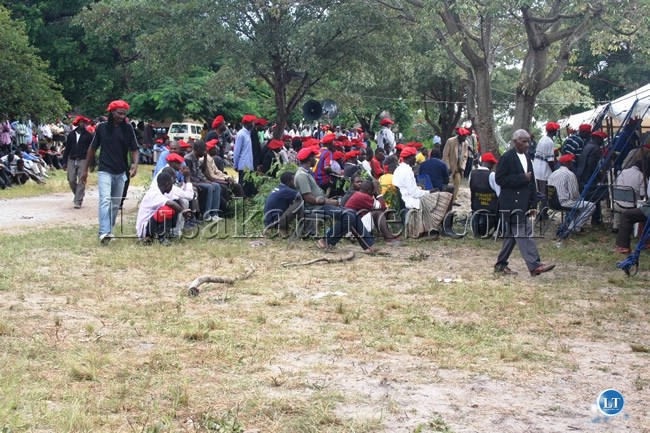 Mongu residents turn out in large numbers to listen to the proceeding to the Barotse National Council in Limulunga Royal Village