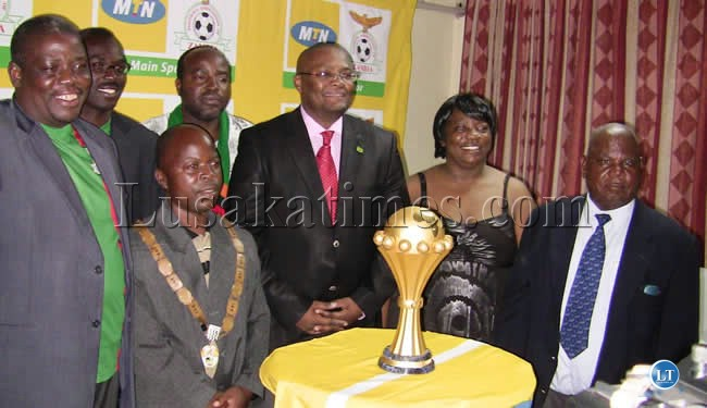 TOP Government officials during the dinner hosted for the tour of the AFCON trophy at Kasama Lodge