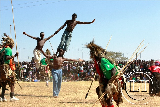 Dancers entertain guests at the Lwiindi traditional ceremony in Monze